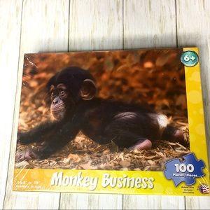 """💎4/$24 """"Monkey Business"""" 100 piece puzzle Ages 6+"""